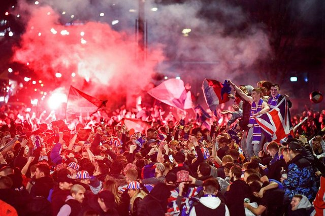 """Deputy First Minister John Swinney has branded the behaviour of some Rangers fans """"shameful"""" and """"an absolute disgrace"""", after thousands of them broke lockdown rules to celebrate their club's Scottish Premiership title victory. (Photo by Jeff J Mitchell/Getty Images)"""