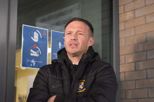 East Fife manager Darren Young