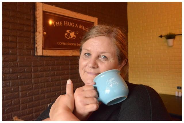 Owner Laura Davidson at The Hug A Mug Coffee Shop (Pic: George McLuskie)