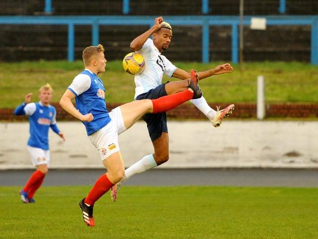 Goal-scorer Manny Duku in action for Raith Rovers against Cowdenbeath last November