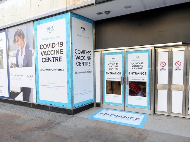 The mass COVID vaccination centre in the former M&S shop on Kirkcaldy High Street was forced to close at the weekend due to water damage after the heavy rain. It remains closed today. (Pic: Fife Photo Agency)