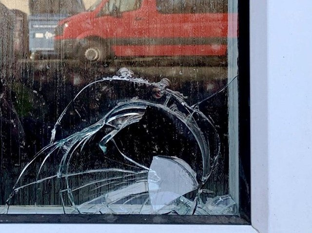 Police have appealed for information after windows were smashed again at Seescape in Kirkcaldy last month.