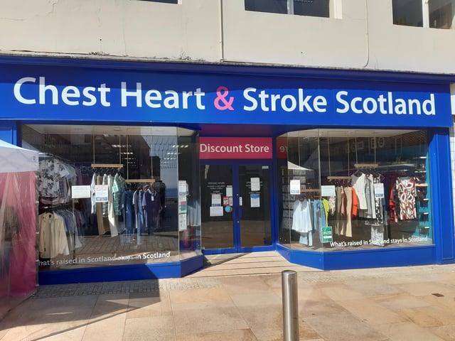 Chest, Heart & Stroke Shop on Kirkcaldy High Street