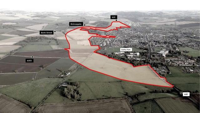 The Cupar North masterplan site.