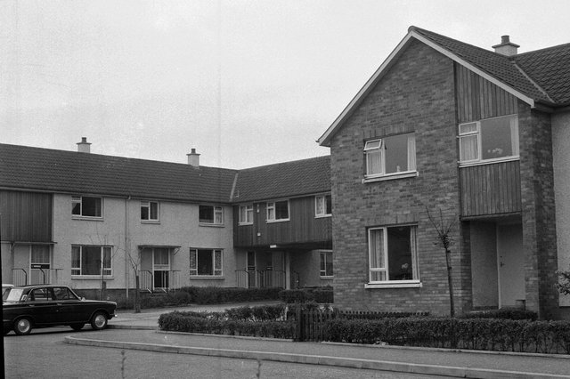 One of the new housing precincts which made up the town.