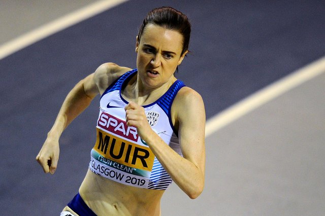 Laura Muir, from Milnathort, is stepping up her preparations for Tokyo. Pic by Michael Gillen