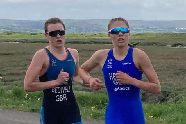 Anna Hedley, right, certainly impressed in the high class field